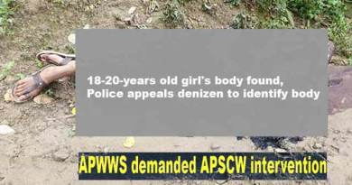 Arunachal: young girl murder case, APWWS demanded APSCW intervention
