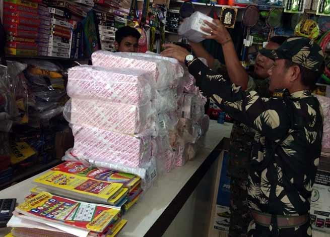 Itanagar: City police conducted raids, seized Cash, housie & Gambling materials