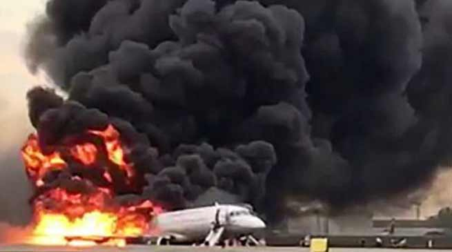 Moscow Plane catches fire, 41 killed