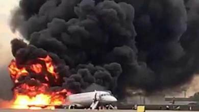 Photo of Moscow Plane catches fire, 41 killed