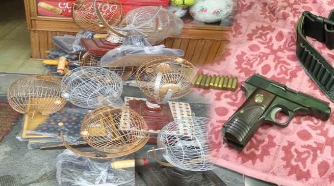 Itanagar: Vehicle checking drive continue, seized Pistol, Housie materials