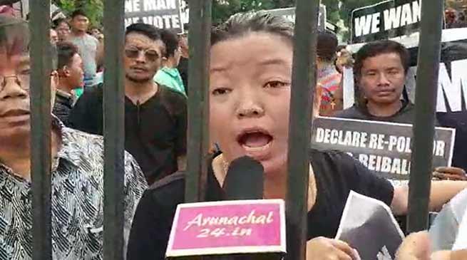 Itanagar: Rakso voters gherao Nirvachan Bhawan