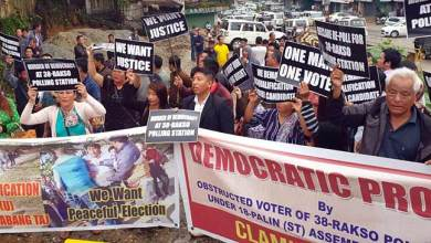Photo of Arunachal: voters of Rakso staged protest demanding re-polling
