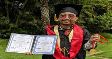 Arunachalee naturopathy Dorjee Tashi Thongharpa awarded PhD by International Peace University Germany