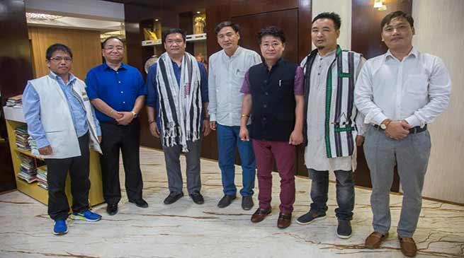 Itanagar: JDU legislature meet CM Khandu