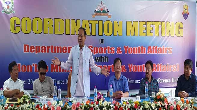 Arunachal: Natung asks officials to prepare roadmap for development of sports in state