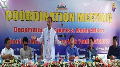 Photo of Arunachal: Natung asks officials to prepare roadmap for development of sports in state