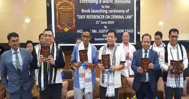 "Arunachal:  Justice Nelson Sailo release book on "" Easy Referencer on Criminal Law"""