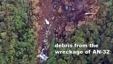 Photo of First photo of missing IAF AN-32 aircraft from Crash site