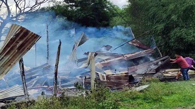 Arunachal: Two house devour in fire mishap at Dobam village