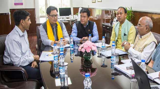 Khandu, Kiren discuss infrastructure gap in Arunachal for implementation of Khelo India