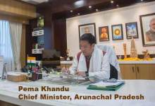 Pema Khandu joins office as CM, accorded red carpet reception