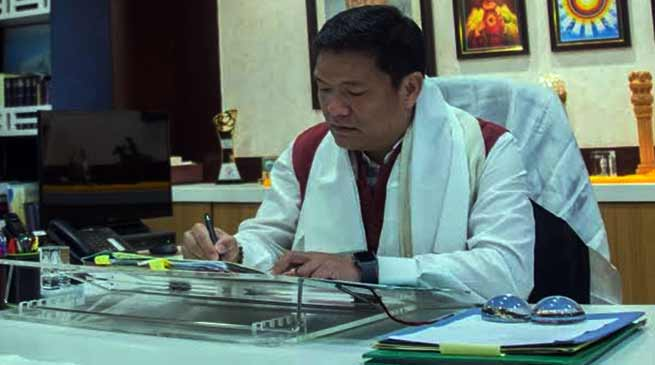 Khandu signs first file, extends maternity and child care leave benefits to female staffs