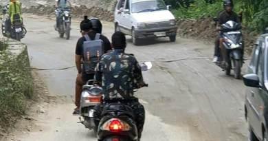 Itanagar: Man in uniform violates traffic rules