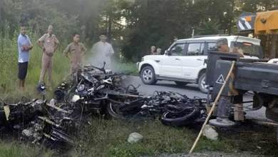 Photo of Tezu: College Student dies after Bike collision, mob burns 4 bikes at accident site