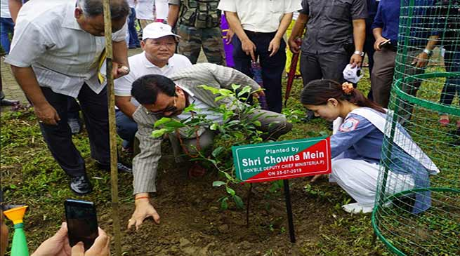 Arunachal: Mein takes part in Clean-Green Arunachal Campaign 2019