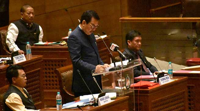 Arunachal FM Chowna Mein presents Budget for 2019-20