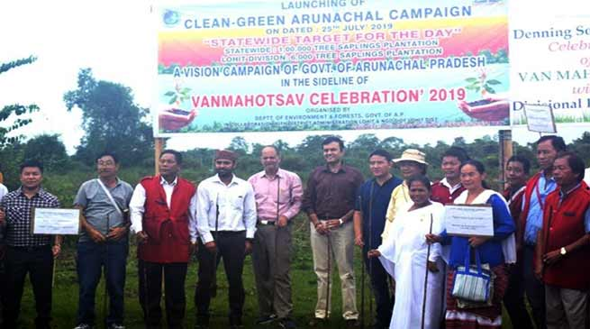 Clean – Green Arunachal Campaign: 6000 sapling planted in Lohit