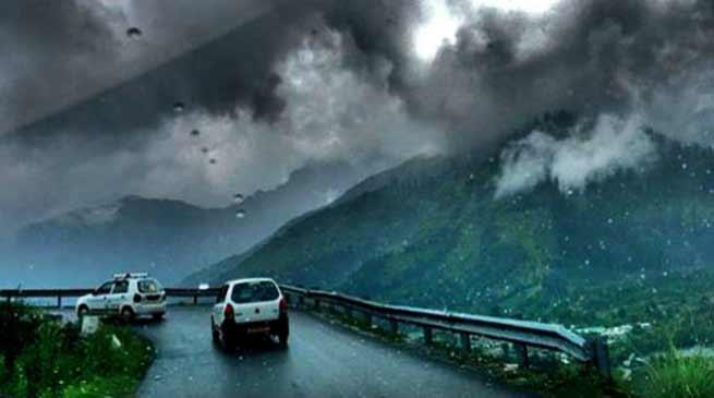 Heavy rain and thunderstorms are likely over Arunachal Pradesh