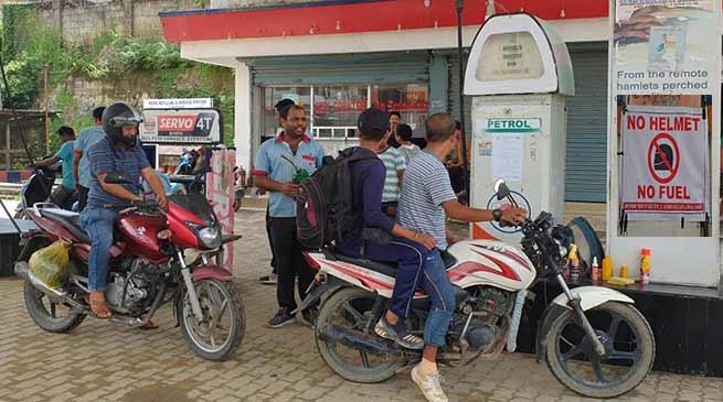 Itanagar: No Helmet, No Petrol for Two-Wheeler Riders in Itanagar Capital Complex