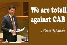 "Photo of Arunachal: ""We are totally against CAB""- Pema Khandu"