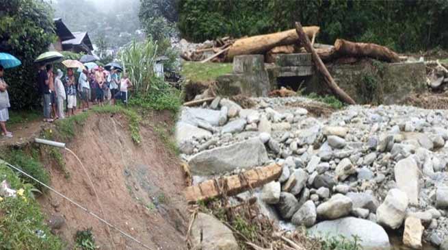 Arunachal Rains update: bridge washed away in Lumla, effected Hydel stations