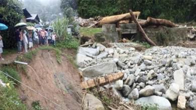 Photo of Arunachal Rains update: bridge washed away in Lumla, effected Hydel stations