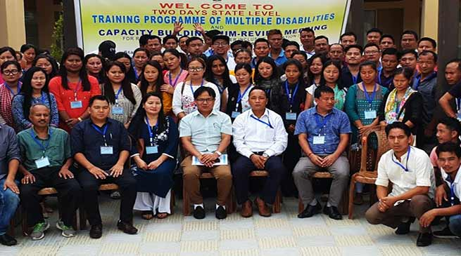 Itanagar: state level training programme on multiple disability with visually impaired cum environment building,