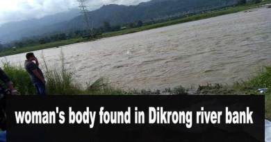 Arunachal: woman's body found in Dikrong river bank