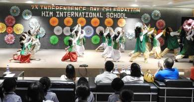 HIM International School celebrates 73rd Independence day with Pomp and Festivities