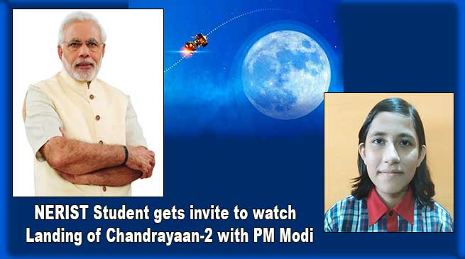 NERIST Student gets invite to watch moon landing of Chandrayaan-2 with PM Modi at ISRO