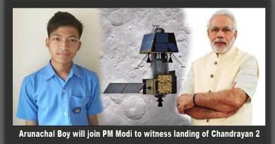 Arunachal Boy will join PM Modi at ISRO to witness landing of Chandrayan 2