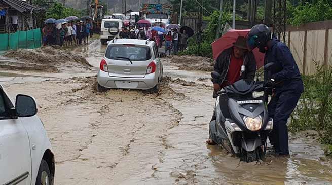 Itanagar: Mudslide block several roads in capital complex