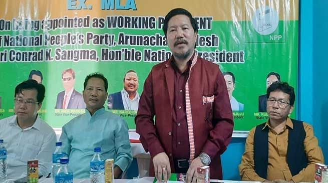 Arunachal: I will extend all my support to NPP- Pani Taram