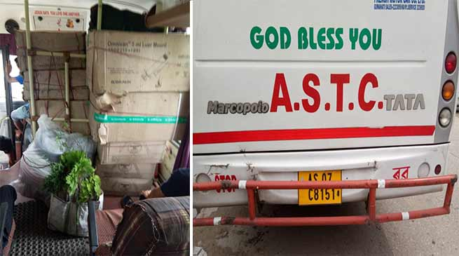 Arunachal: Commercial Goods Transported in Passenger Bus!