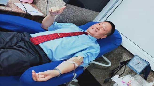 204 donate blood in memory of freedom fighters of NE