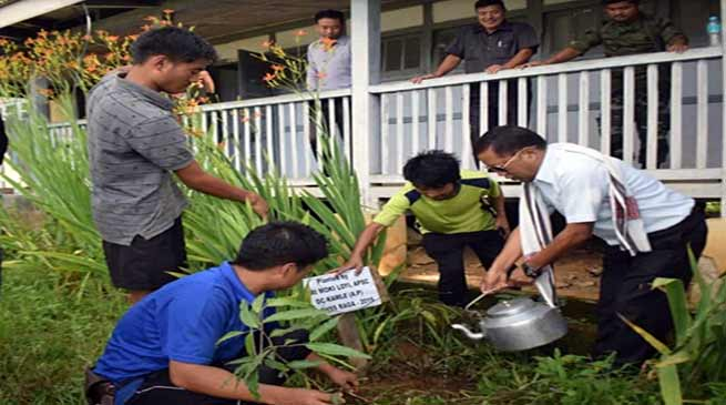 Arunachal: Tree plantation held at Govt. Higher Secondary School, Raga