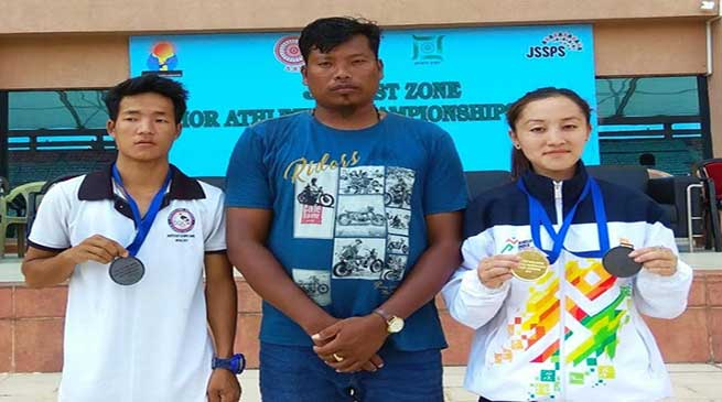 Joti Mane of Arunachal Pradesh grabbed gold medal in 31st East Zone Junior Athletics Championship 2019