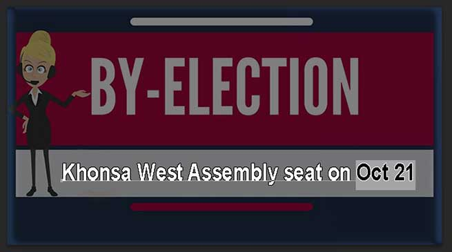 By-elections to Khonsa West Assembly seat on Oct 21