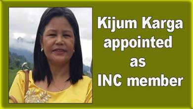 Arunachal: Kijum Karga appointed as INC member