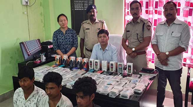 Itanagar: 14 mobiles recovered from gang of 3 thieves arrested by capital police
