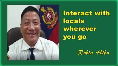 Photo of Interact with locals wherever you go, says Robin Hibu