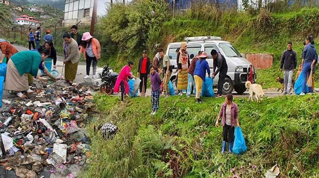 Swachhata Hi Seva: mass cleanliness drive held in Tawang
