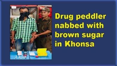 Photo of Arunachal: Drug peddler nabbed with brown sugar in Khonsa
