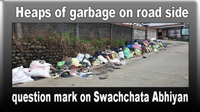 Heaps of garbage on road side, a question mark on Swachchata Abhiyan