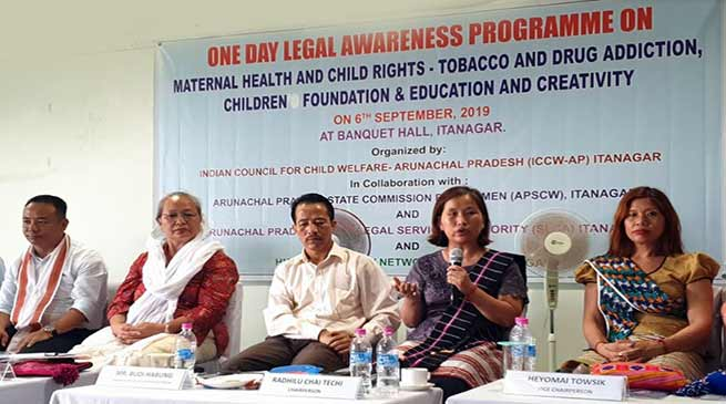 Itanagar: ICCW-AP organised Legal awareness on mother and child right