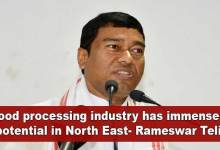 Photo of Food processing industry has immense potential in North East- Rameswar Teli