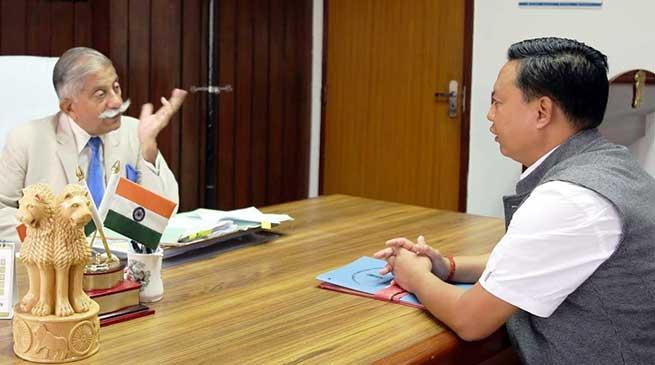 Arunachal:Buragaon-Thrizino MLA calls on the Governor