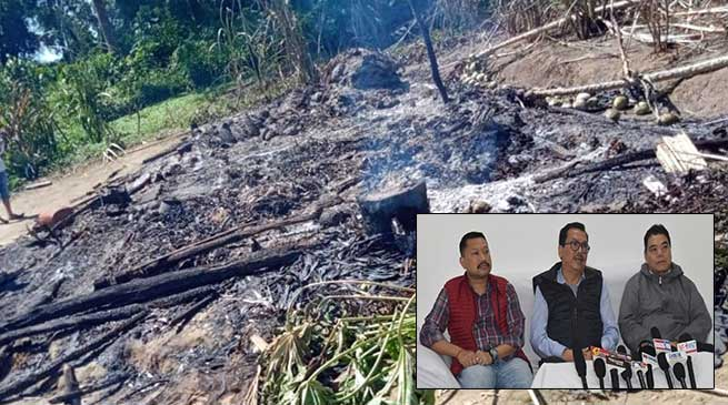 Namsai arson case: 2 arrested, Chowna Mein appeals for peace