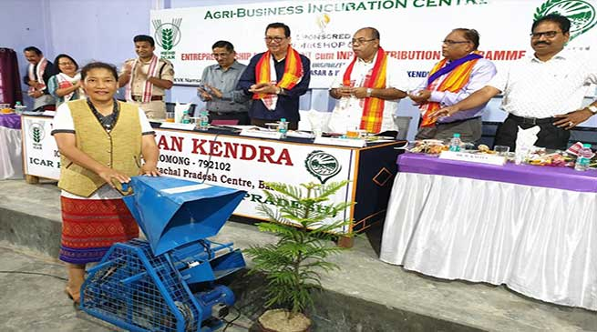 Arunachal: Chowna Mein called for more research-oriented work in agriculture and horticulture sector by KVK and ICAR